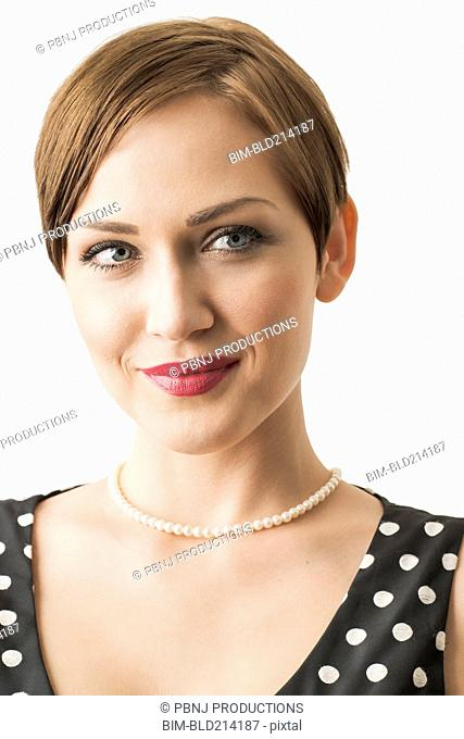 Close up of Caucasian woman smiling