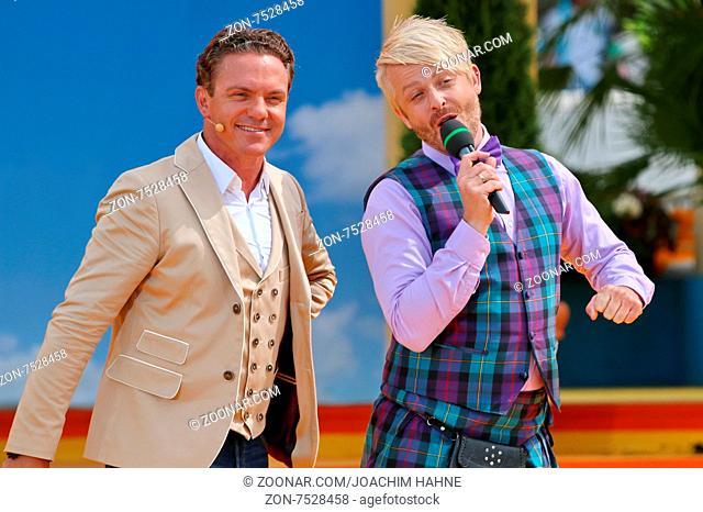 Stefan Mross (Sänger / Moderator / Entertainer) und Ross Antony (Saenger / Musiker) in der ARD-TV-Sendung