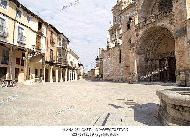 Cathedral in Burgo de Osma village Soria province Castile Leon Spain on June 11, 2017