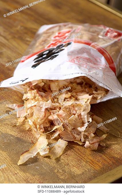 Bonito flakes in a bag