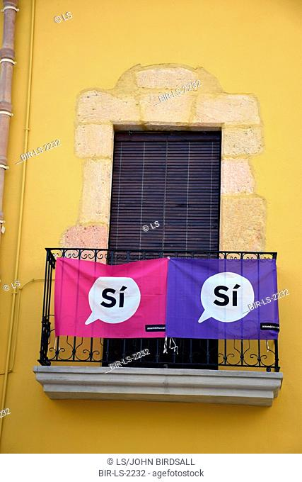 Catalonia, Spain Sep 2017. Altafulla near Tarragona. On 1 October Catalans will go to the polls to vote in a referendum on whether to secede from Spain and form...