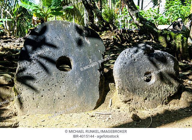 Stone money, Yap Island, Caroline Islands, Micronesia