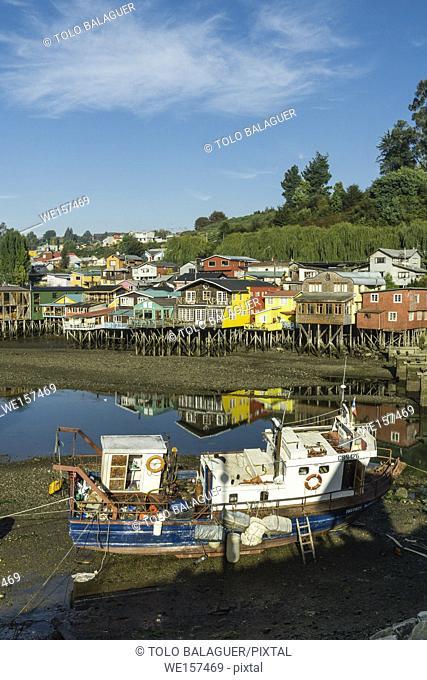 palafitos, Castro, archipiélago de Chiloé , provincia de Chiloé , región de Los Lagos, Patagonia, República de Chile, South America