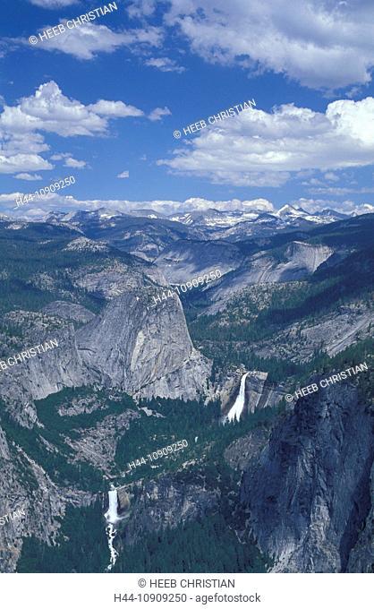 Vernal Fall, Nevada Fall, Yosemite, N.P., California, USA, United States, America, Yosemite, National Park, Yosemite Valley, Waterfall, Sierra Nevada