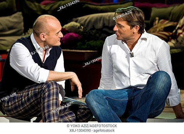 Kalispera telecast, Canale 5, Milan 2011 Alessio Vinci and Alfonso Signorini