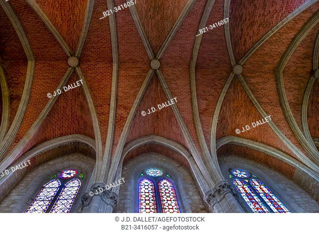 France, Nouvelle Aquitaine, Lot et Garonne, ceiling of the Saint André chuech at Monflanquin