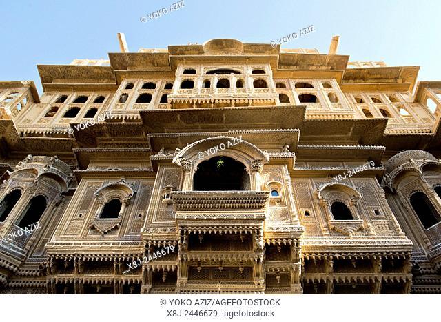 India, Rajasthan, Jaisalmer, local haveli