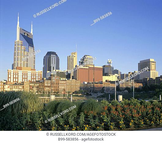 Downtown Skyline, Nashville, Tennessee, Usa