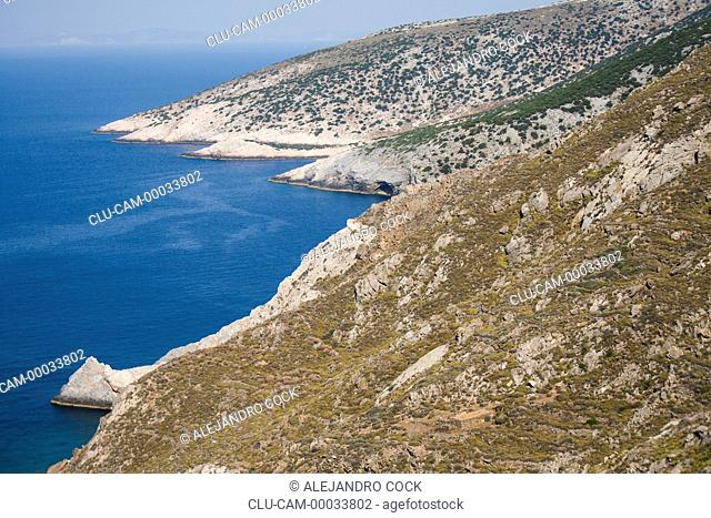 Coasts of Sifnos, Kastro, Islands of Ciclades, Greece, Western Europe