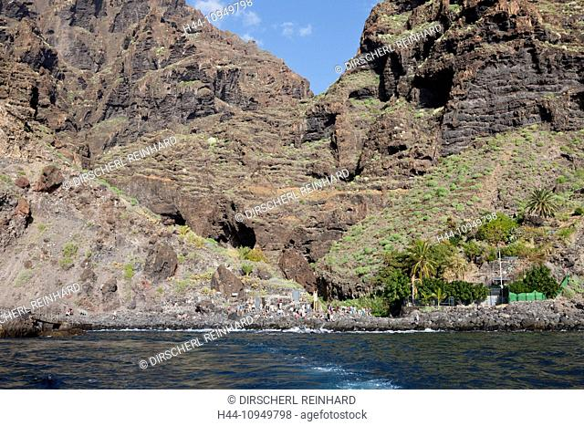 Coast Playa de Masca at End of Masca Gorge, Tenerife, Canary Islands, Spain