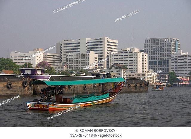 Longtail boat, Chao Phraya river, Bangkok