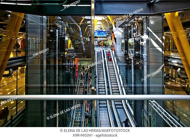 Terminal 4, T4. Barajas Airport. Madrid. Spain