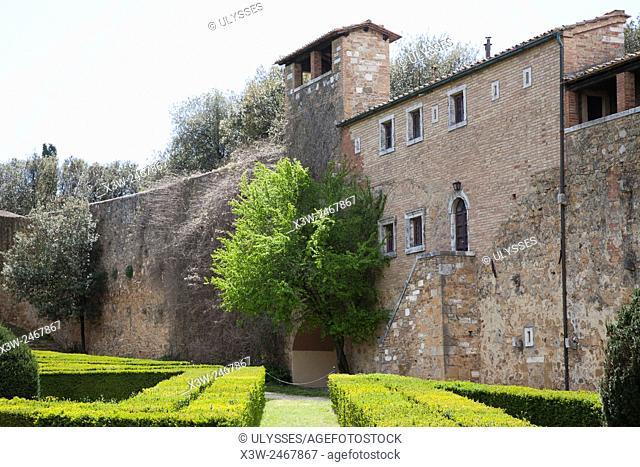 Orti Leonini, San Quirico d' Orcia, Tuscany, Italy, Europe
