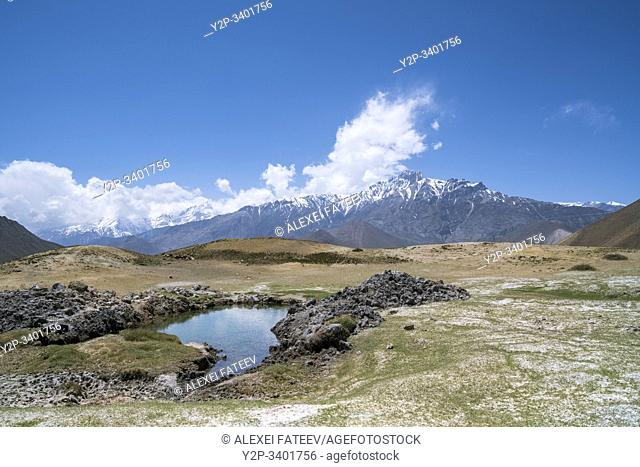 Landscape in Mustang district, Nepal