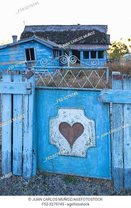Old farm, Comuna C. A. Rosetti, Tulcea, Danube Delta, UNESCO WORLD HERITAGE, Tulcea County, Romania, Europe