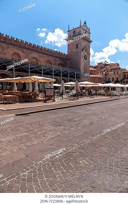 City center of the historic town in Mantua