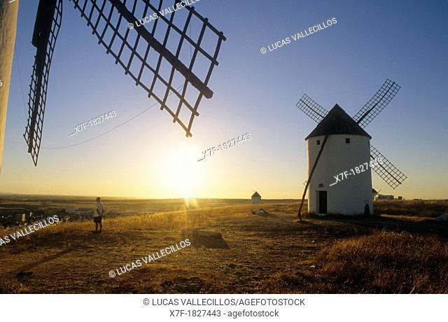 Windmills,Mota del Cuervo,Cuenca province,Castilla La Mancha,the route of Don Quixote, Spain
