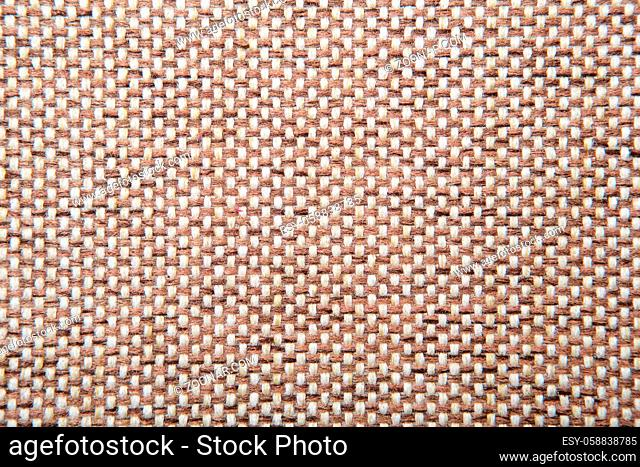 Brown checkered Rough Fabric Texture, Pattern, Background