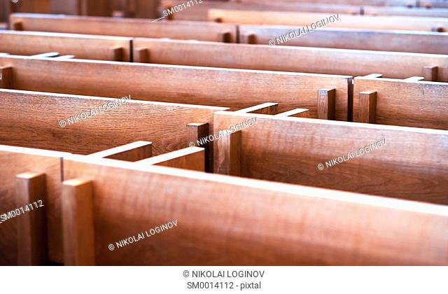 Church seat benches in Tromso backdrop hd