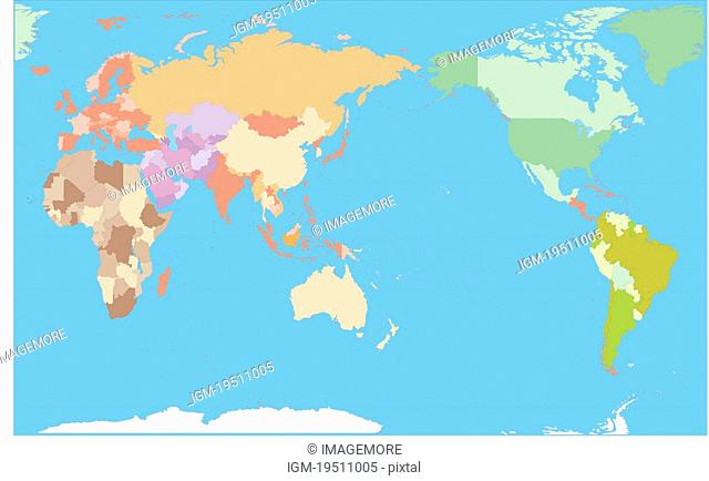 World Map Asia Centered.Asia Centered World Map Stock Photos And Images Age Fotostock