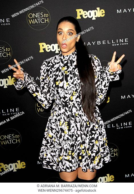 People's One's To Watch Event Celebrating Hollywood's Rising & Brightest Stars held at E.P. & L.P. in Los Angeles Featuring: Lilly Singh