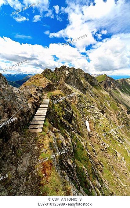 pathway on Monzoni mountain