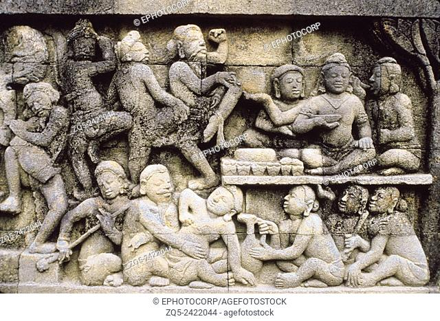 East view of the exposed hidden foot. Borobudur, Indonesia. Dated: 778-842 A. D