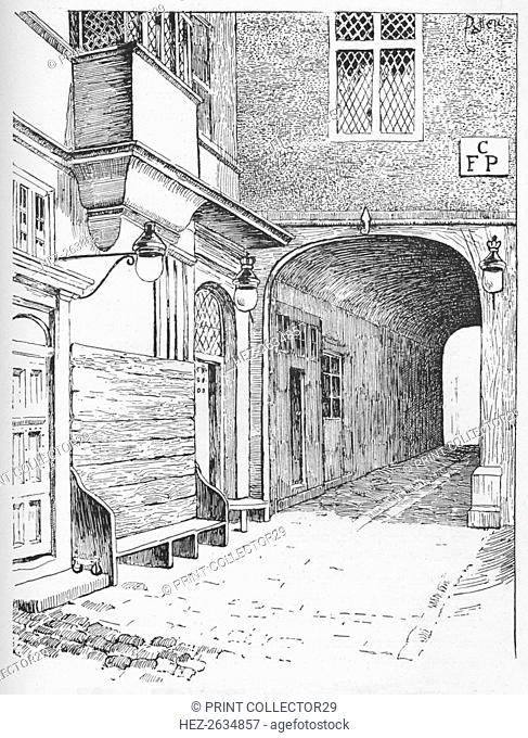 'The Entrance to Speaker's Ward as it appeared before the fire', c1897. Artist: William Patten
