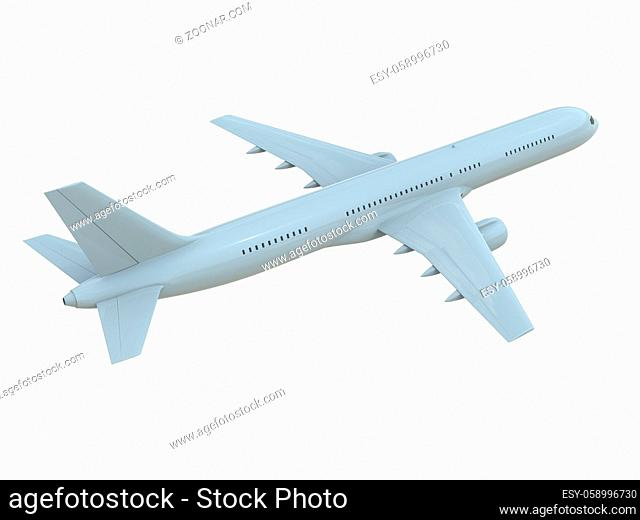 CommercialPassenger Plane in Airon White, VacationTravel by Air Transport, AirlinerTake OffFlying, Aircraft Flight andAviationRouteAirline Sign