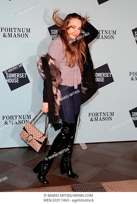 The Skate at Somerset House with Fortnum & Mason Launch Party held at the Somerset House - Arrivals Featuring: Xenia Tchoumi Where: London