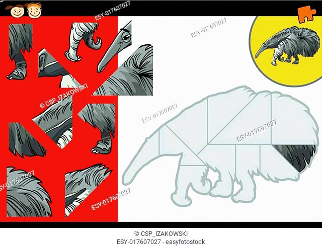 cartoon anteater jigsaw puzzle game
