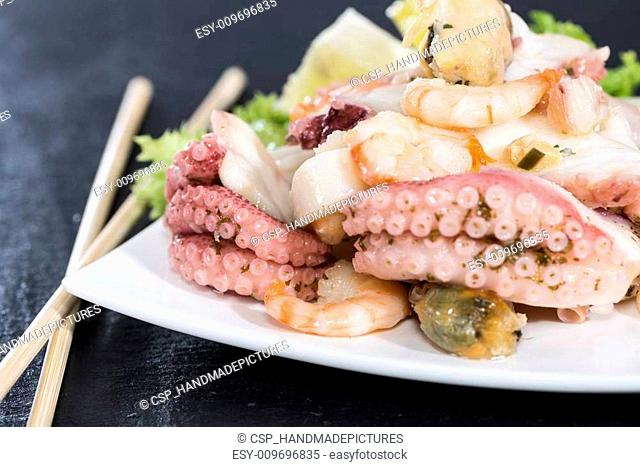 Portion of Seafood Salad