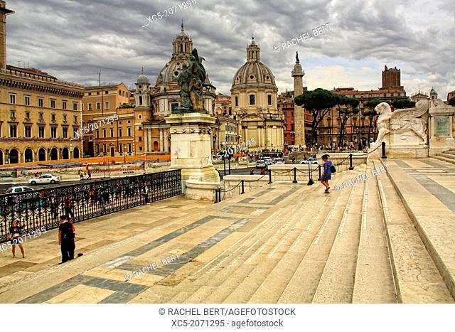 Piazza di Venezia from Vittorio Emanuele II National Monument, Rome, Italy