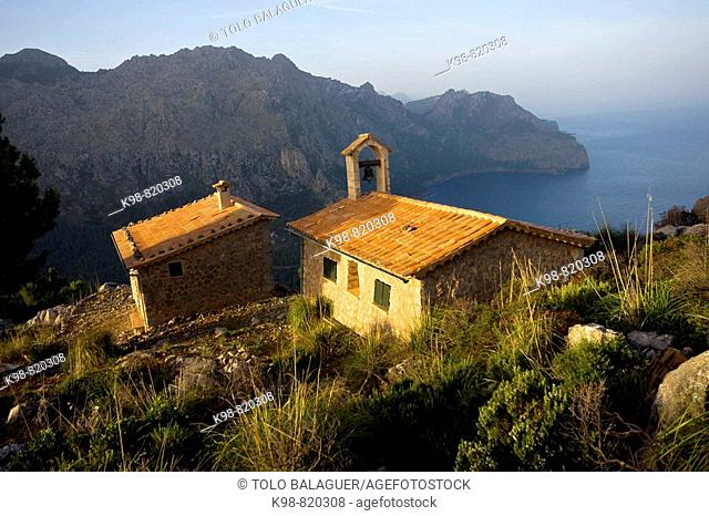 Chapel, Torre d'en Palou, Cala Tuent, Escorca. Serra de Tramuntana, Majorca, Balearic Islands, Spain