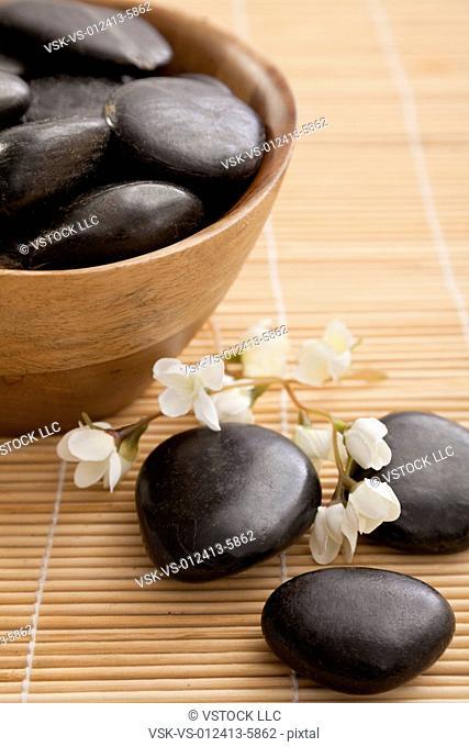 Lastone therapy stones in spa, Studio shot