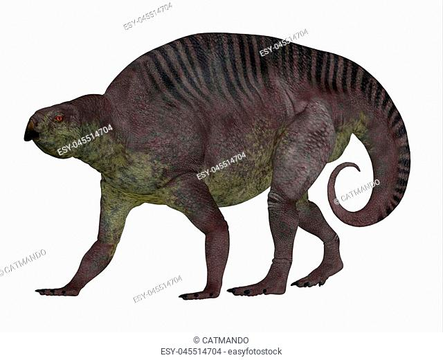 Lotosaurus adentis was a herbivorous poposauroid dinosaur that lived in China during the Triassic Period