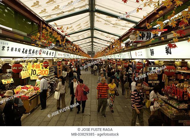 Japan, Tokyo, Asakusa, Senso-ji,  Nakamisa street, visitors,   Asia, Eastern Asia, island Honshu, capital, city, destination, sight, Sensoji, Nakamisa-dori