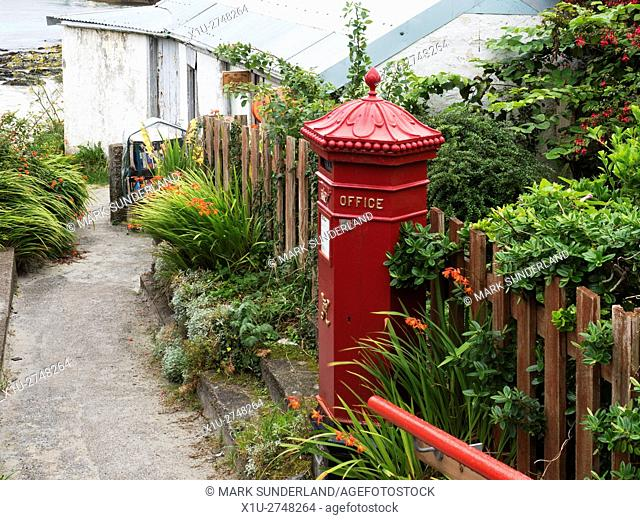 Red Letter Box at the Post Office on Iona Argyll and Bute Scotland