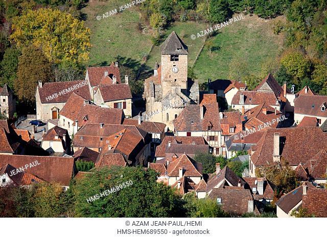 France, Lot, Autoire, labelled Les Plus Beaux Villages de France the Most Beautiful Villages of France