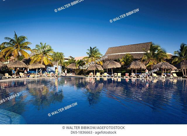 Cuba, Matanzas Province, Varadero, Hotel Iberostar Varadero, poolside
