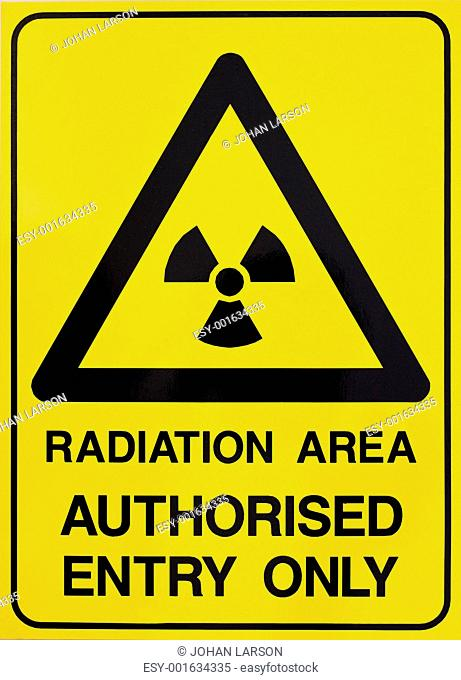 Nuclear radiation warning sign