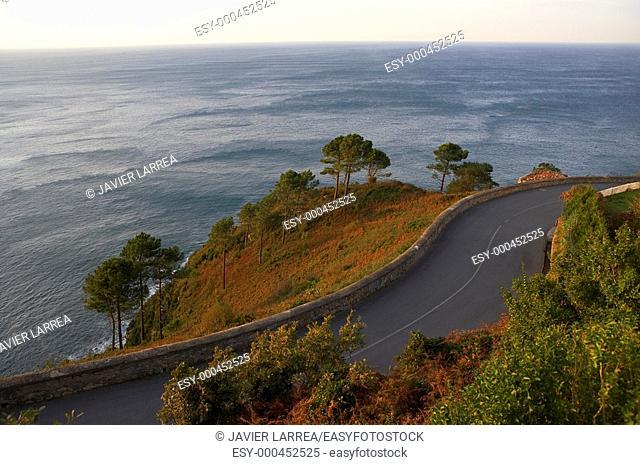 Road to Monte Igueldo lighthouse, Donostia, San Sebastian, Gipuzkoa, Euskadi