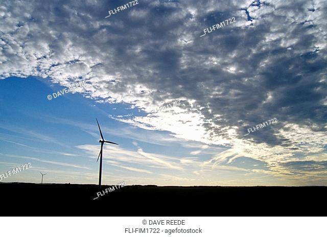 Wind Turbine and Cloud Mass, near St. Leon, Manitoba
