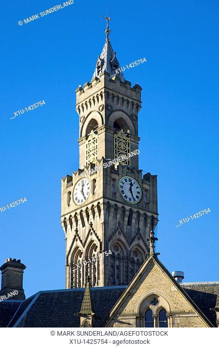 City Hall Clock Tower Bradford West Yorkshire England