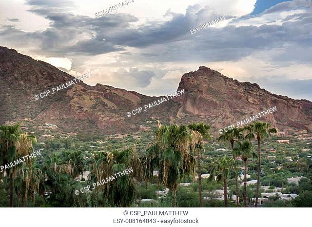 Camelback Mountain in Scottsdale, A