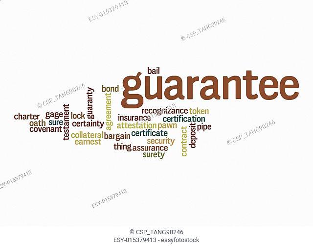 Guarantee word cloud