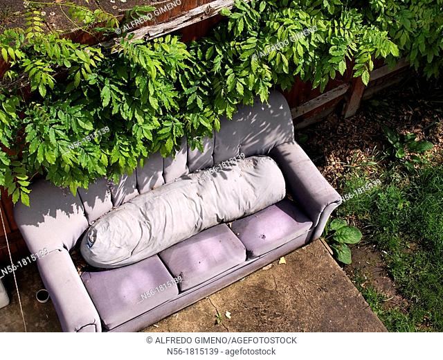 Sofa in the garden