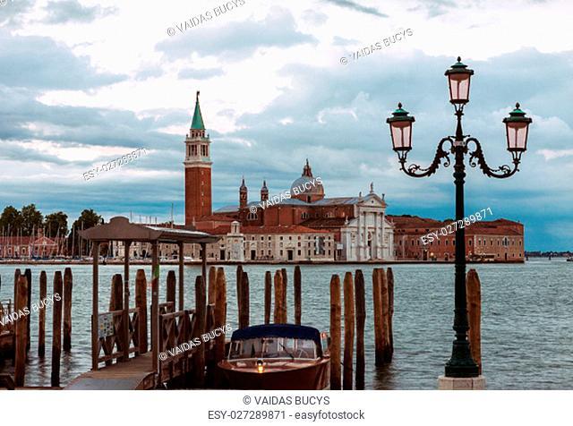 Early morning view of San Giorgio di Maggiore church in Venice, Italy