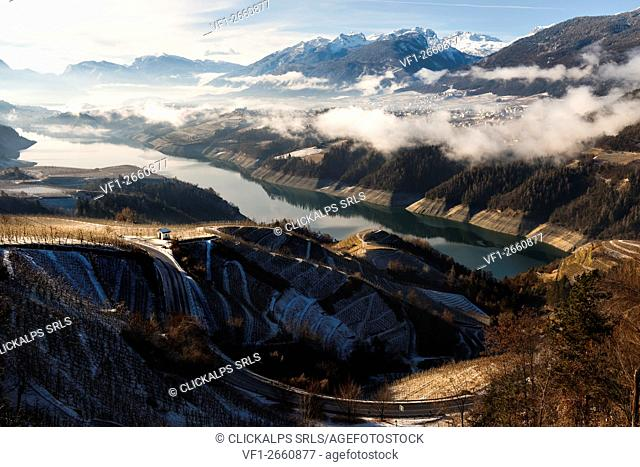 Lake Santa Giustina, Non valley, province of Trento,Trentino Alto Adige region, Italy