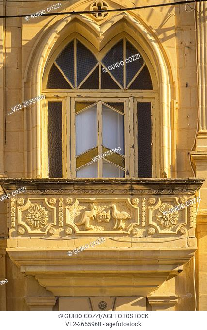 Malta, Gozo. Main Square in Gharb